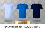 shirt mock up set. t shirt... | Shutterstock .eps vector #622924043