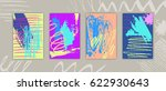 set of rectangular cards with... | Shutterstock .eps vector #622930643