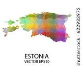 vector color map of estonia ...