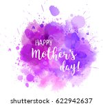 abstract watercolor purple blot ... | Shutterstock .eps vector #622942637
