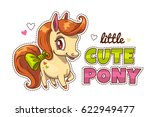 little cute pony patch. funny... | Shutterstock .eps vector #622949477