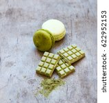green matcha chocolate and... | Shutterstock . vector #622952153