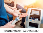 shock wave therapy. the... | Shutterstock . vector #622958087