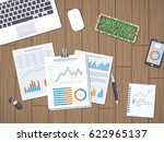 work with documents  statistic  ... | Shutterstock . vector #622965137