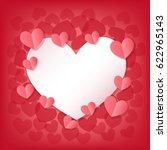 happy valentine's day greeting... | Shutterstock . vector #622965143
