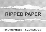 ripped paper with shadow and... | Shutterstock .eps vector #622965773