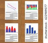 set of charts. statistics... | Shutterstock .eps vector #622989077