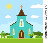 church icon. vector... | Shutterstock .eps vector #622991177