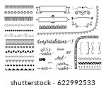 big set of decorative elements. ... | Shutterstock .eps vector #622992533