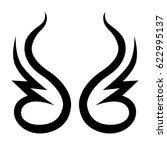 tattoo tribal vector designs.... | Shutterstock .eps vector #622995137