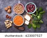 lentils  chickpea  nuts  beans  ...   Shutterstock . vector #623007527