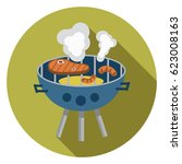 grill icon | Shutterstock .eps vector #623008163