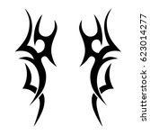 tattoo sketch tribal vector... | Shutterstock .eps vector #623014277