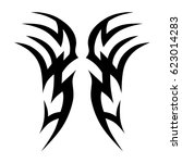 tribal tattoo art designs.... | Shutterstock .eps vector #623014283