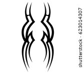 tattoo sketch tribal vector... | Shutterstock .eps vector #623014307