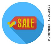 sale coupon icon | Shutterstock .eps vector #623015633
