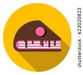 chocolate cake dessert  icon   Shutterstock .eps vector #623020823