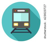 railway icon | Shutterstock .eps vector #623023727