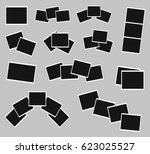 photo frames set  polaroid... | Shutterstock .eps vector #623025527