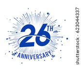 26th anniversary fireworks and... | Shutterstock .eps vector #623044337