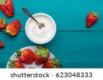 flatlays. top view of fresh ... | Shutterstock . vector #623048333