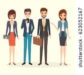 business people teamwork... | Shutterstock .eps vector #623052167