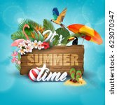 it's summer time typographical... | Shutterstock .eps vector #623070347