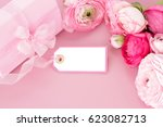 Pink Ranunculus Flowers  Gift...