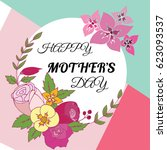happy mother's day layout... | Shutterstock .eps vector #623093537