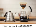 close up of coffee brewing... | Shutterstock . vector #623102873