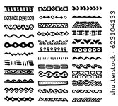 collection of hand drawn... | Shutterstock .eps vector #623104133