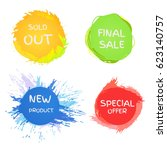 collection symbols such as...   Shutterstock .eps vector #623140757