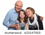 grandparents and their... | Shutterstock . vector #623147003