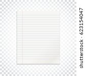 realistic line paper note on... | Shutterstock .eps vector #623154047