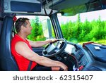 the driver working in the cabin ... | Shutterstock . vector #62315407