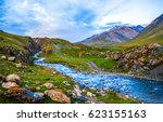 Mountain River Stream Landscape