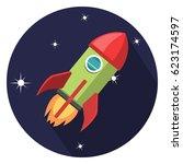 spacecraft icon | Shutterstock .eps vector #623174597