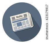 newspaper icon   Shutterstock .eps vector #623179817
