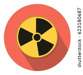 danger hazard nuclear icon | Shutterstock .eps vector #623180687