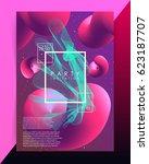 abstract lines. volume blended... | Shutterstock .eps vector #623187707