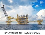 offshore oil and gas central... | Shutterstock . vector #623191427