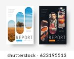 cover design in a minimalistic... | Shutterstock .eps vector #623195513