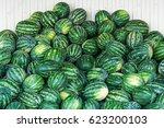 a lot of watermelons | Shutterstock . vector #623200103