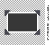 photo frame with angle  corner... | Shutterstock .eps vector #623203067