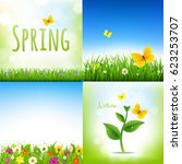 spring nature backgrounds with... | Shutterstock . vector #623253707