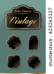 set of high quality vintage... | Shutterstock .eps vector #623263127