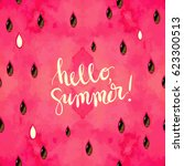 """hello  summer"" hand written... 