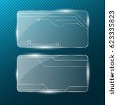 circuit. realistic rectangular... | Shutterstock .eps vector #623335823