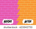 template background before and... | Shutterstock .eps vector #623342753