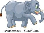 cute elephant cartoon.  | Shutterstock . vector #623343383